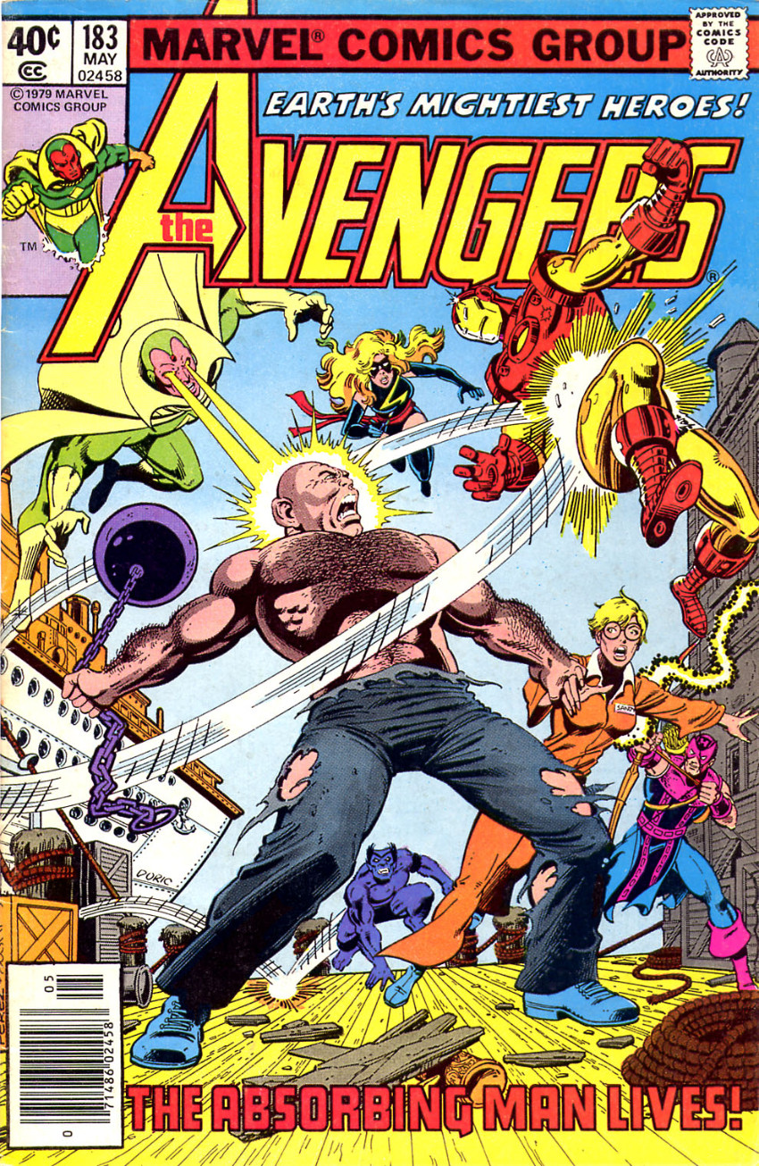 Couverture de Avengers Vol. 1 (Marvel Comics - 1963) -183- The Redoubtable Return of Crusher Creel! 1/2