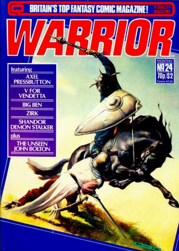 Couverture de Warrior (Quality comics - 1982) -24- Issue # 24