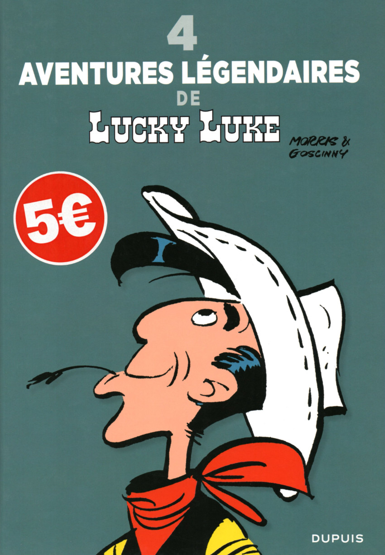 Couverture de Lucky Luke -HS8- 4 Aventures légendaires de Lucky Luke