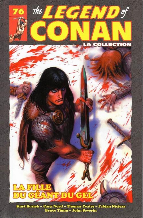 Couverture de Savage Sword of Conan (The) (puis The Legend of Conan) - La Collection (Hachette) -76- La fille du géant du gel