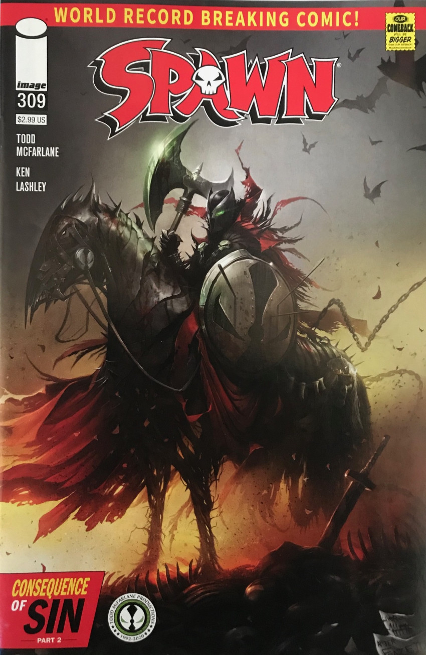 Couverture de Spawn (1992) -309- Consequence of Sin Part 2