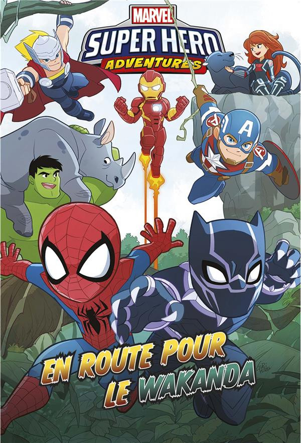 Couverture de Marvel Super Hero adventures - En route pour le Wakanda