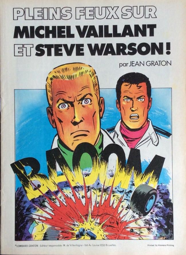 Couverture de Michel Vaillant -07Pub- Pleins feux sur Michel Vaillant et Steve Warson !