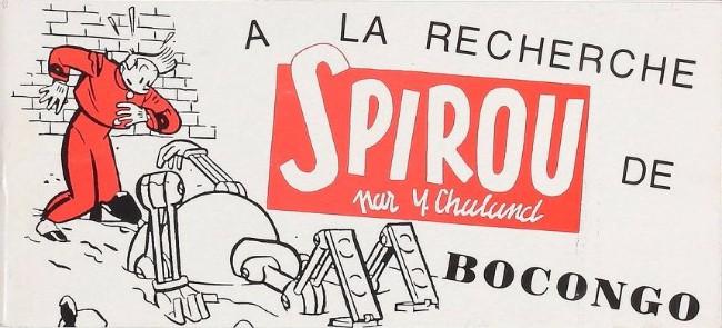 Couverture de Spirou et Fantasio -2- (Divers) -Pir- A la recherche de Bocongo