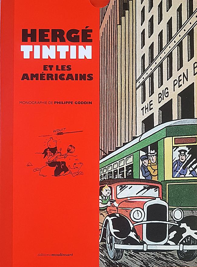 Couverture de Tintin - Divers - Hergé, Tintin et les Américains