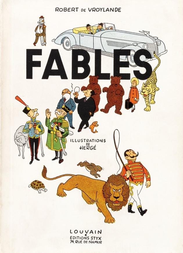Couverture de (AUT) Hergé - Fables de Robert de Vroylande
