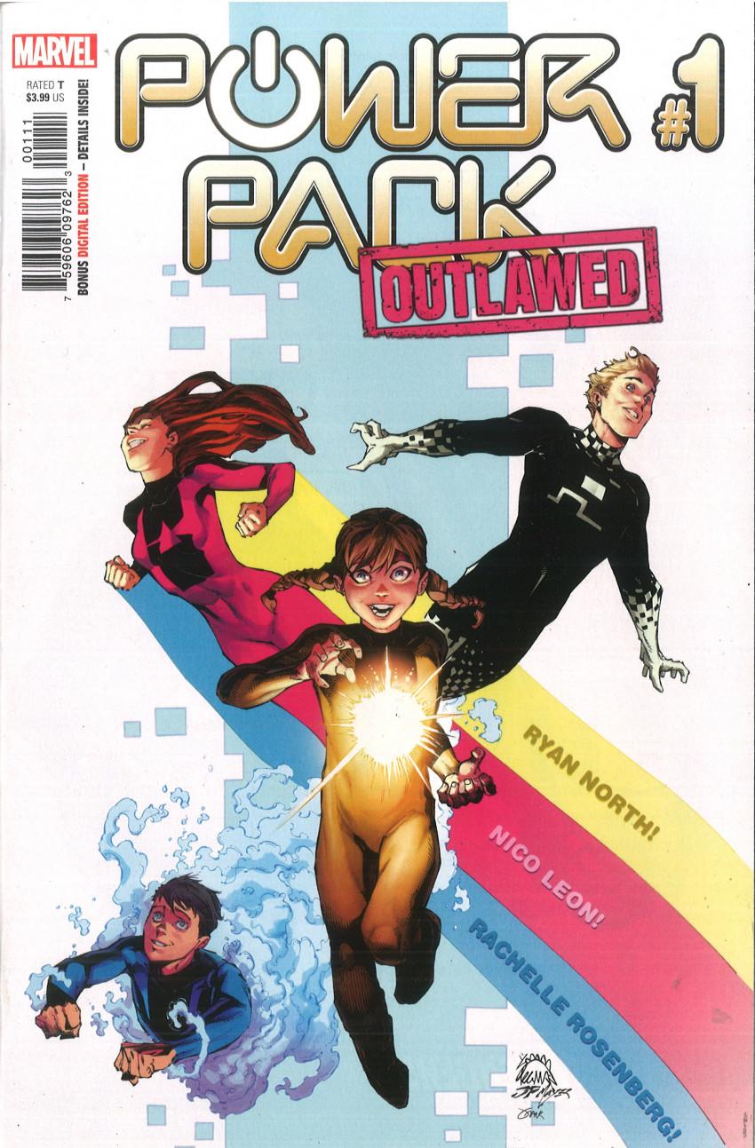 Couverture de Power Pack Vol.4 (Marvel comics - 2020) -1- Outlawed 1