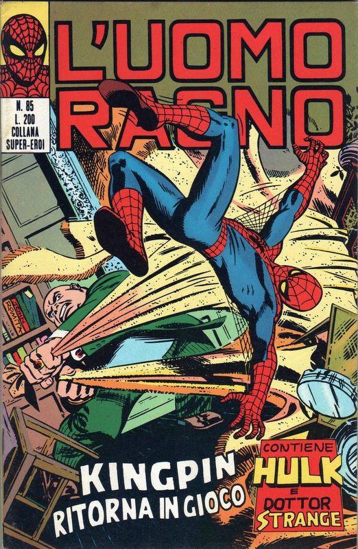 Couverture de L'uomo Ragno V1 (Editoriale Corno - 1970)  -85- Kingpin ritorna in Gioco