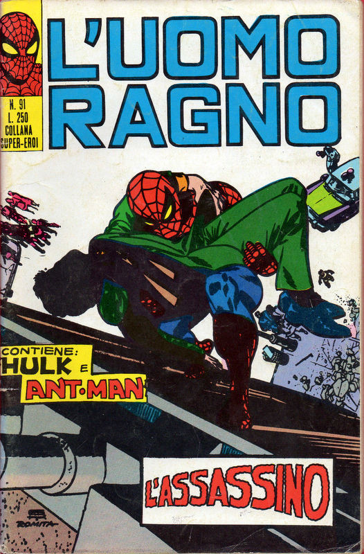 Couverture de L'uomo Ragno V1 (Editoriale Corno - 1970)  -91- L'Assassino