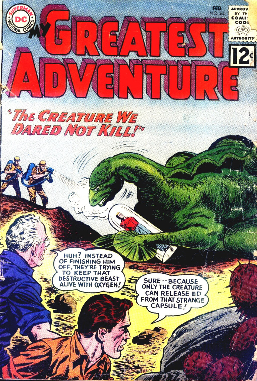 Couverture de My greatest adventure Vol.1 (DC comics - 1955) -64- The Creature We Dared Not Kill!