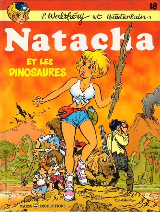 Couverture de Natacha -18- Natacha et les dinosaures