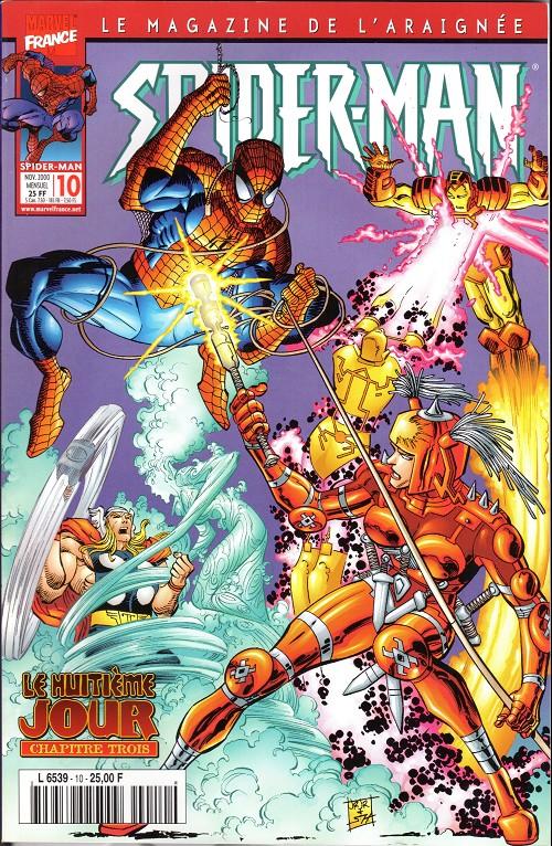 Couverture de Spider-Man (Marvel France 2e série - 2000) -10- Le huitième jour (3/4)