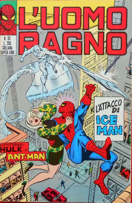 Couverture de L'uomo Ragno V1 (Editoriale Corno - 1970)  -93- L'Attacco di Iceman