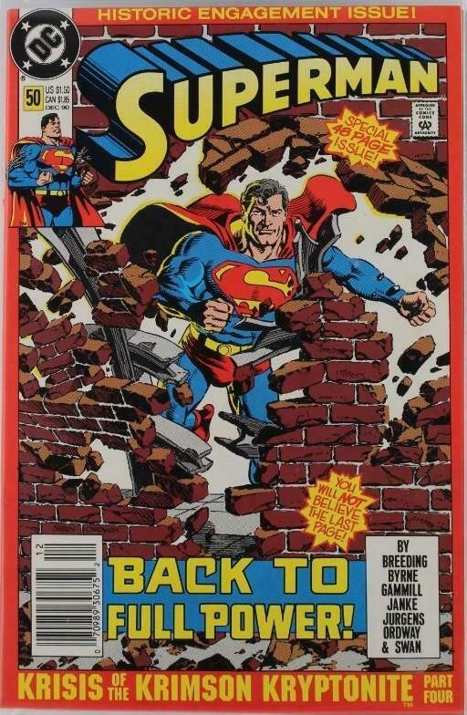 Couverture de Superman Vol.2 (DC comics - 1987) -50- Krisis of the Krimson Kryptonite. Part 4 of 4