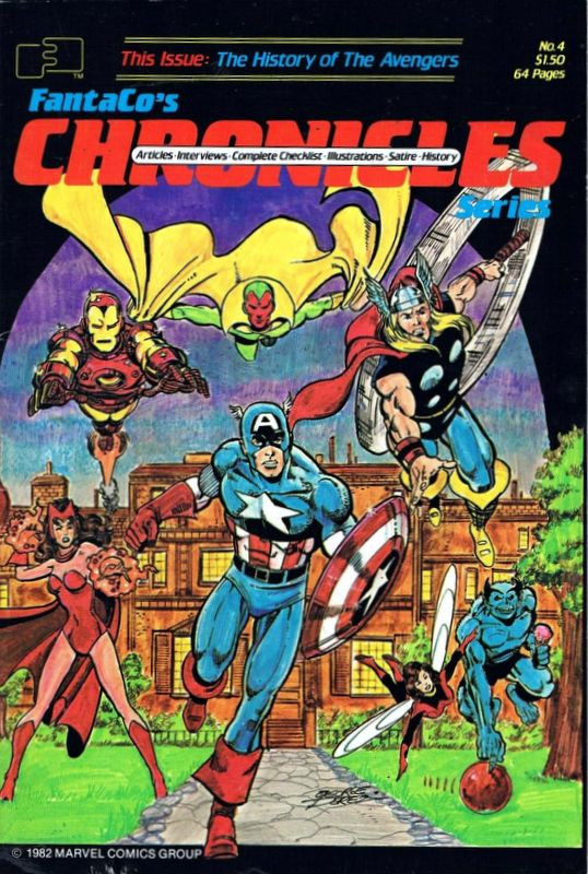 Couverture de FantaCo's Chronicles Series (1981) -4- The History of the Avengers