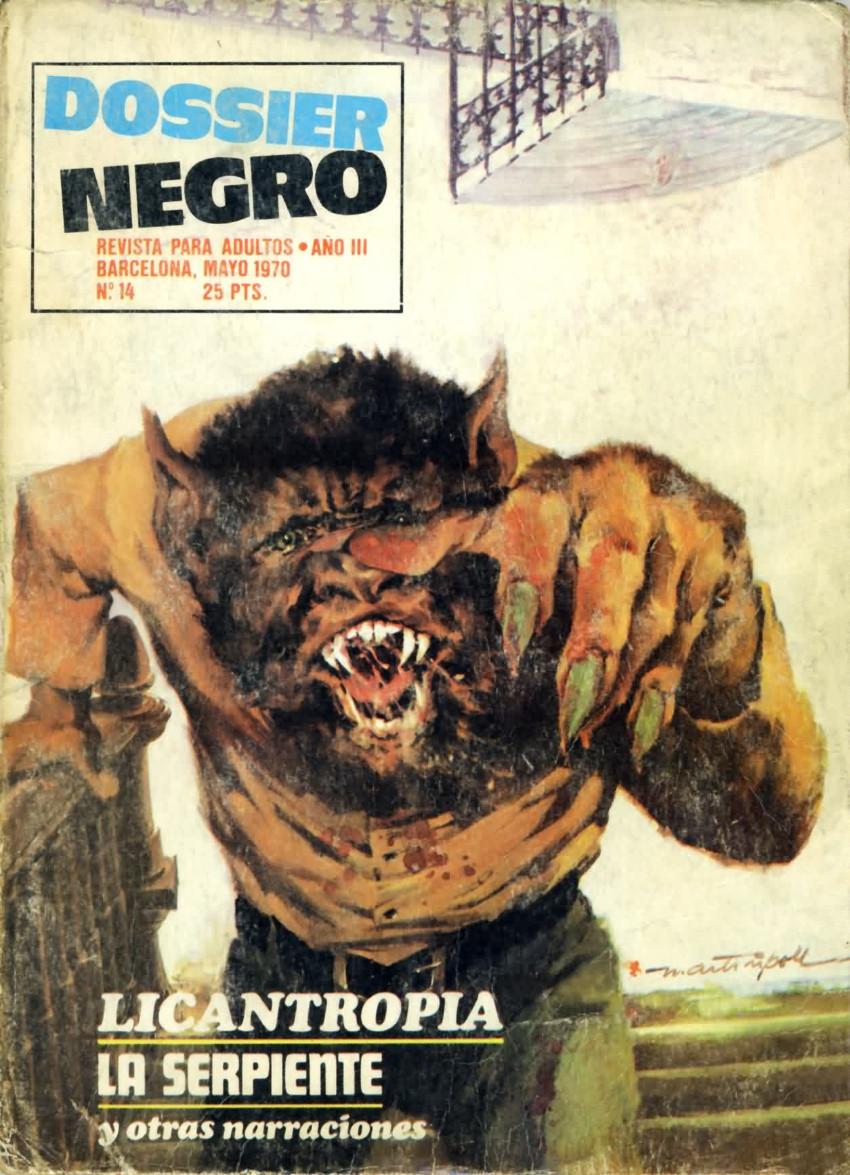 Couverture de Dossier Negro -14- Licantropía