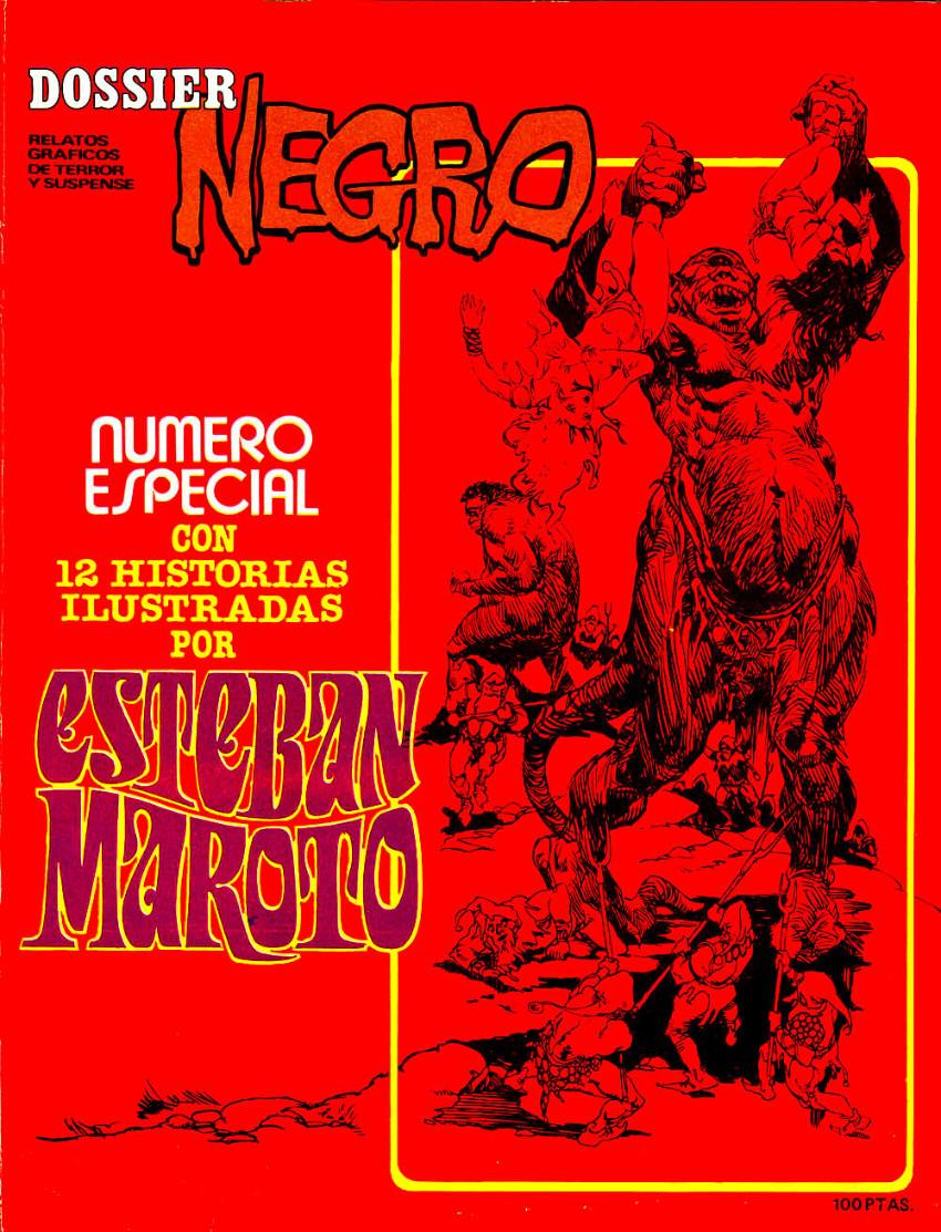 Couverture de Dossier Negro -HS06- Número especial Esteban Maroto