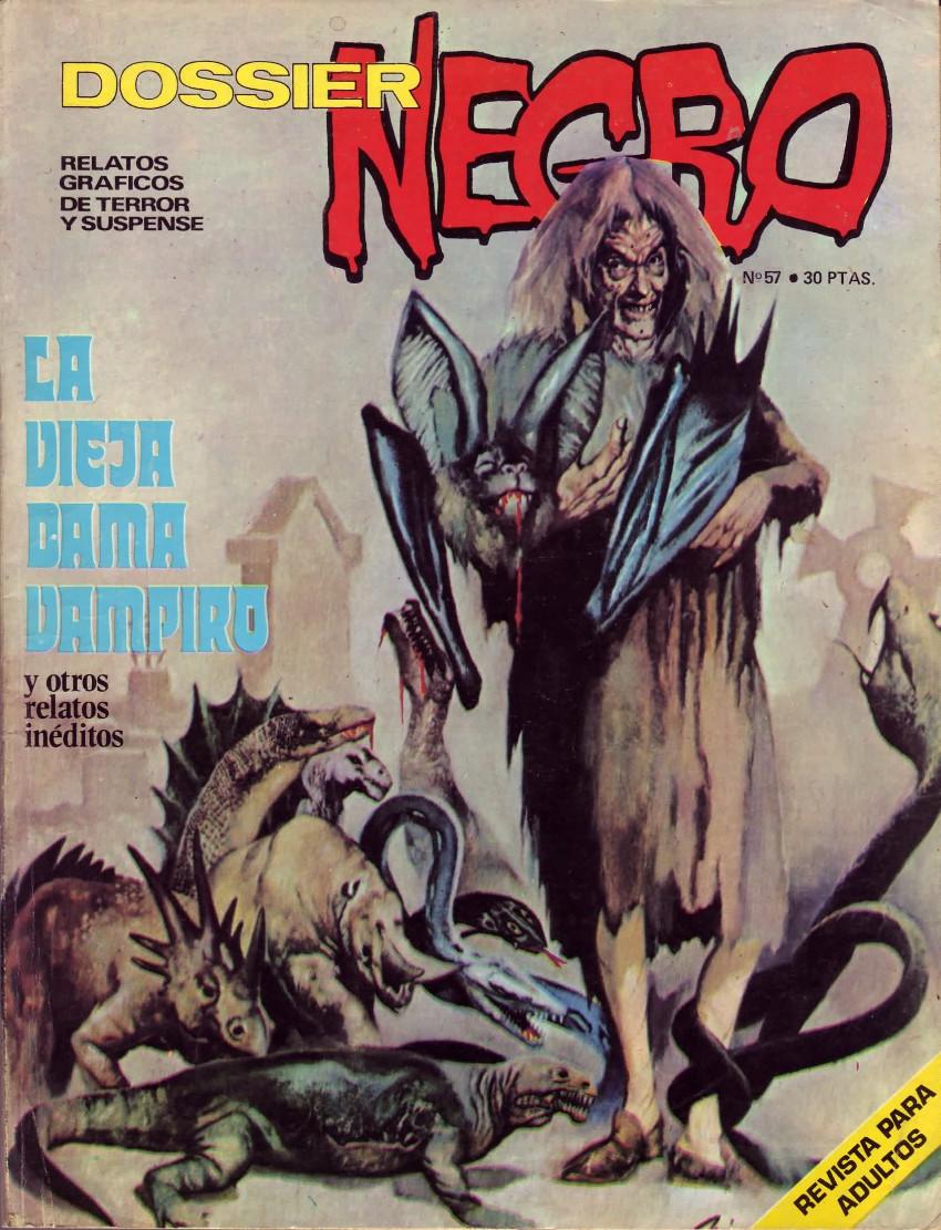 Couverture de Dossier Negro -57- La vieja dama vampiro