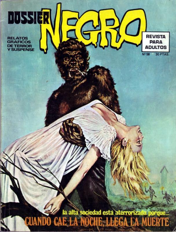 Couverture de Dossier Negro -58- Cuando caí la noche llega la muerte