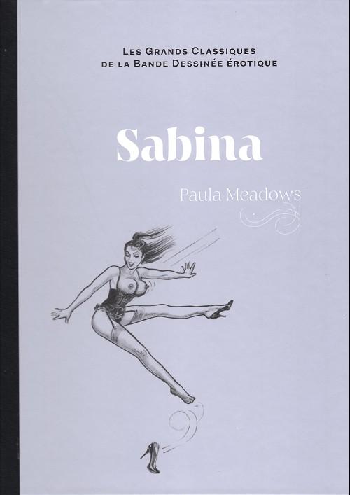 Couverture de Les grands Classiques de la Bande Dessinée érotique - La Collection -123125- Sabina