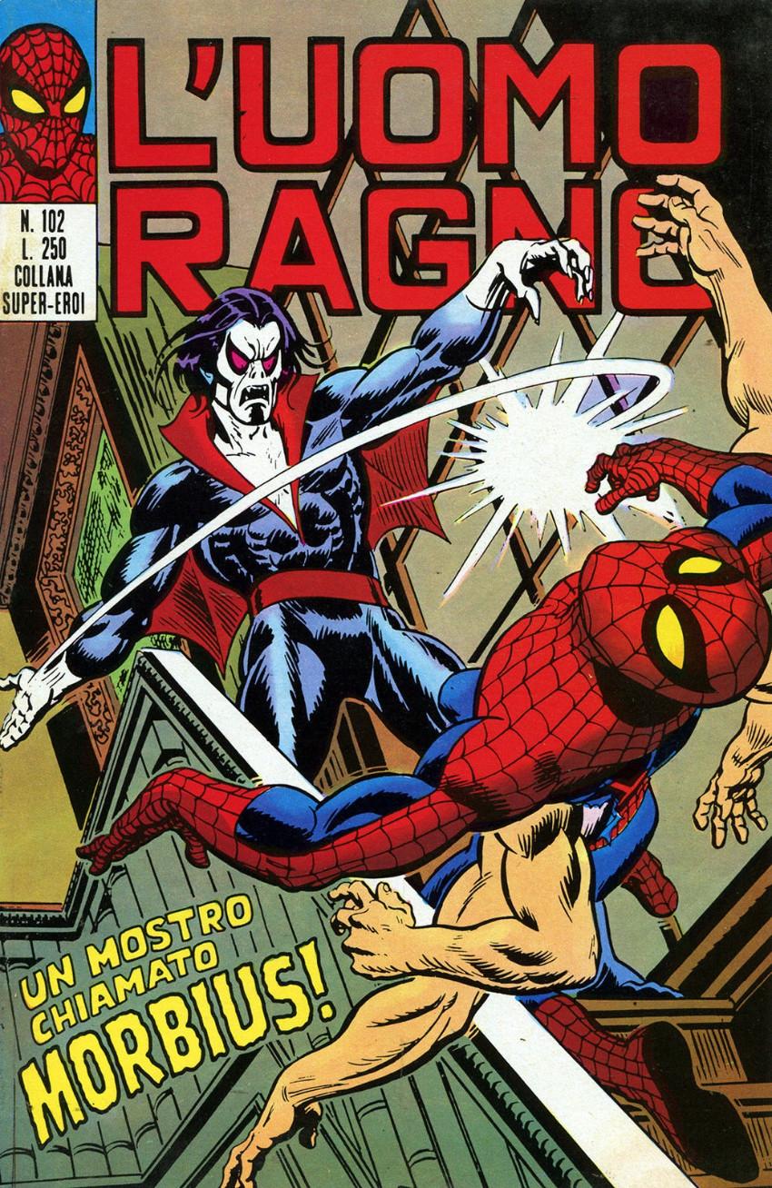 Couverture de L'uomo Ragno V1 (Editoriale Corno - 1970)  -102- Un Mostro chiamato Morbius