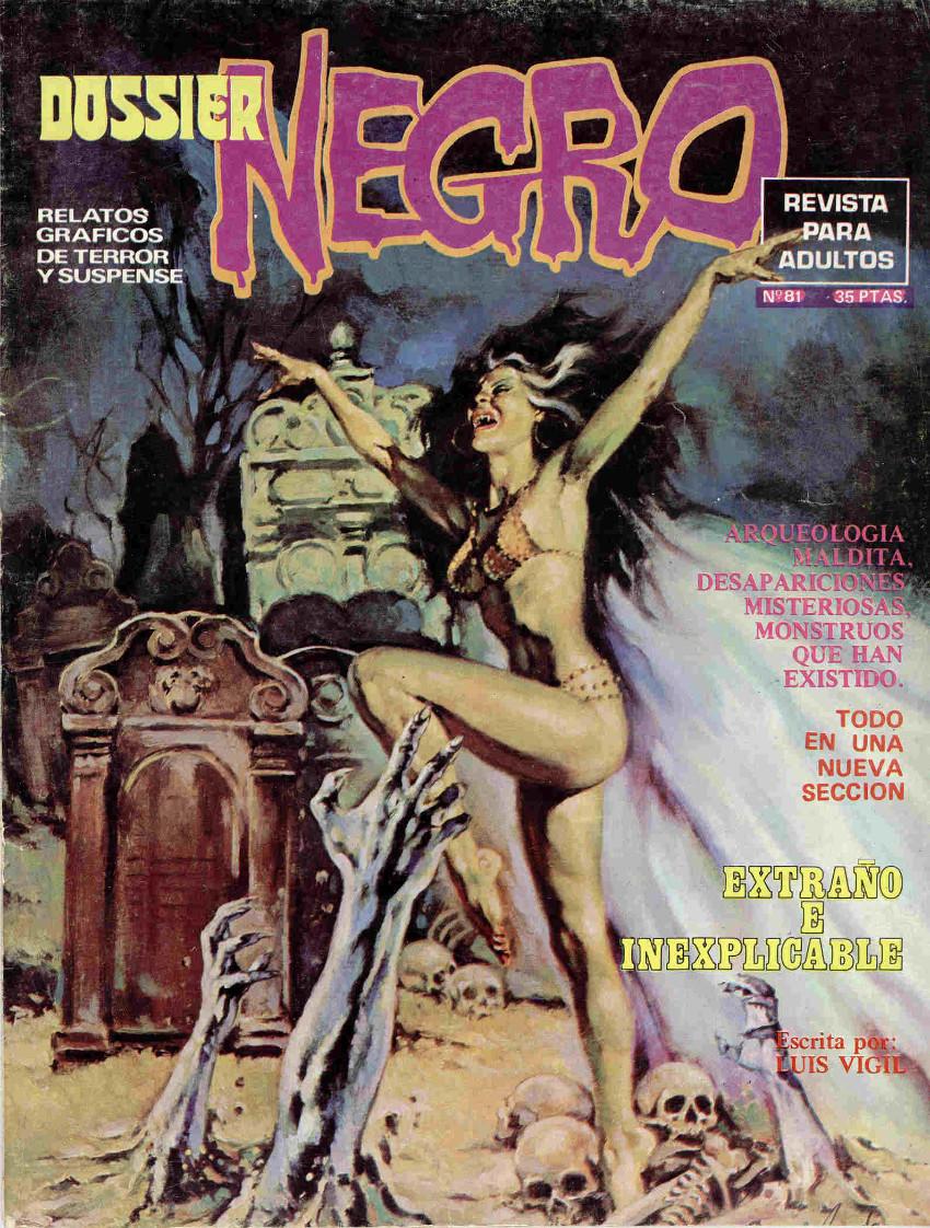 Couverture de Dossier Negro -81- Extraño e inexplicable