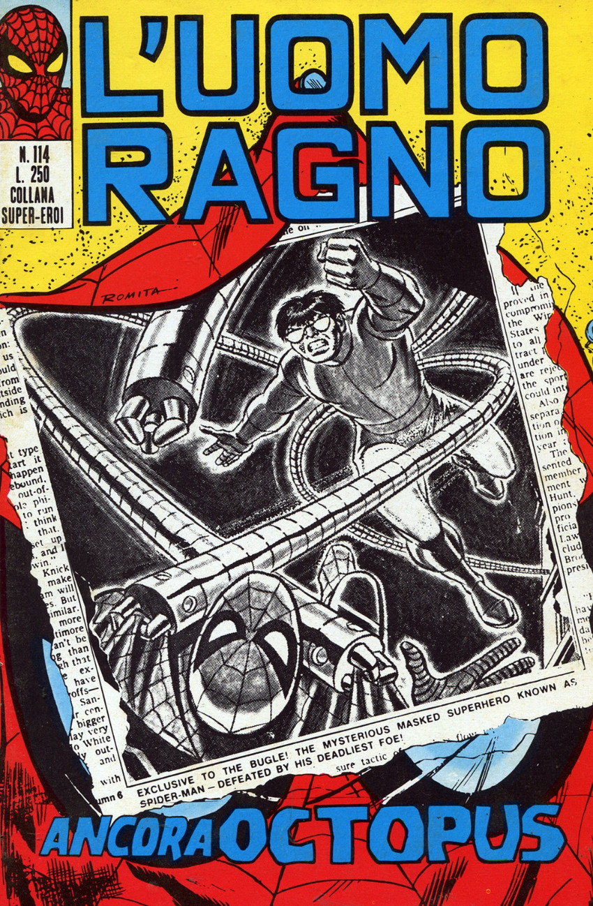 Couverture de L'uomo Ragno V1 (Editoriale Corno - 1970)  -114- Ancora Octopus