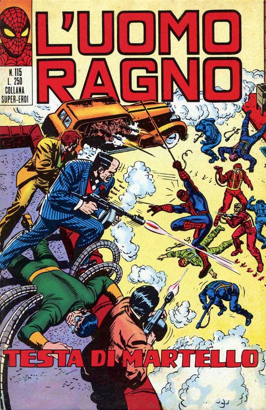 Couverture de L'uomo Ragno V1 (Editoriale Corno - 1970)  -115- Testa di Martello