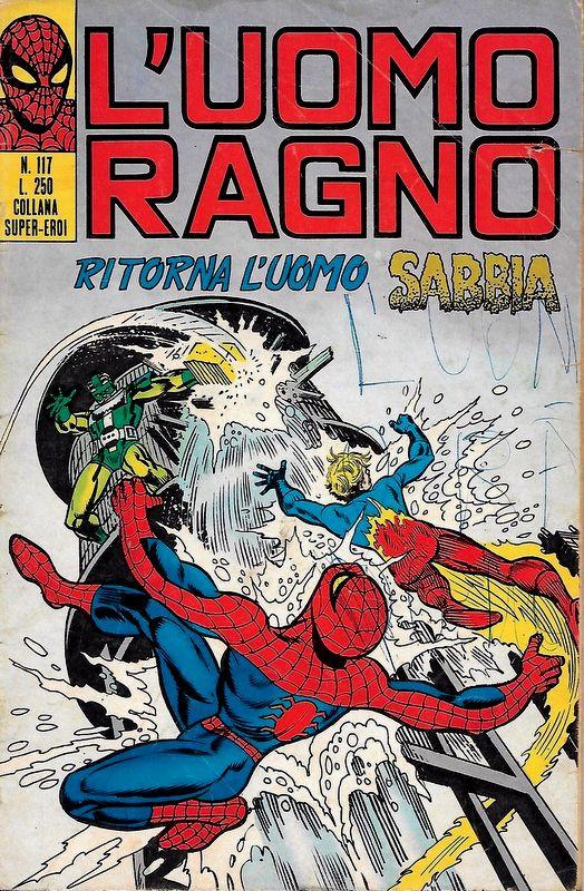 Couverture de L'uomo Ragno V1 (Editoriale Corno - 1970)  -117- Ritorna l'Uomo Sabbia