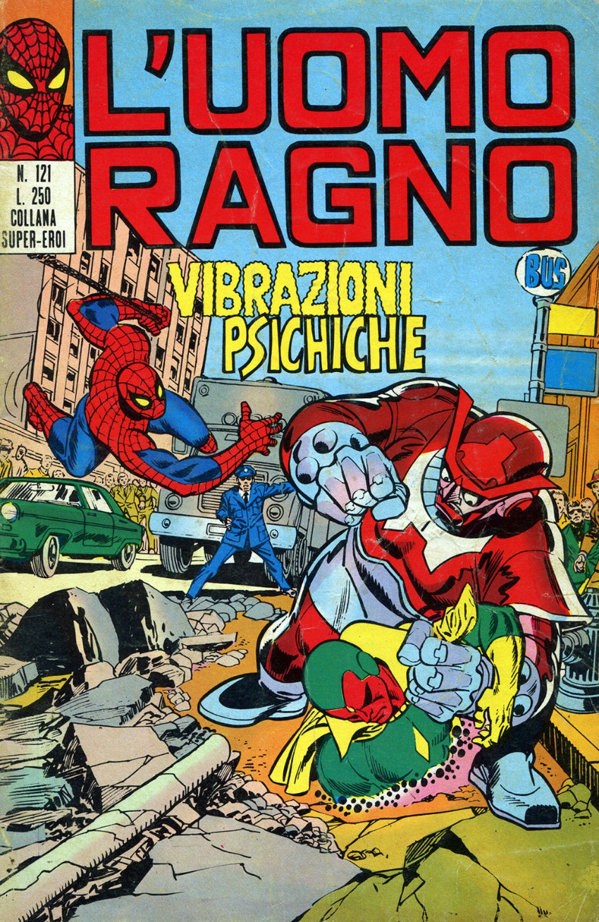 Couverture de L'uomo Ragno V1 (Editoriale Corno - 1970)  -121- Vibrazioni Psichiche