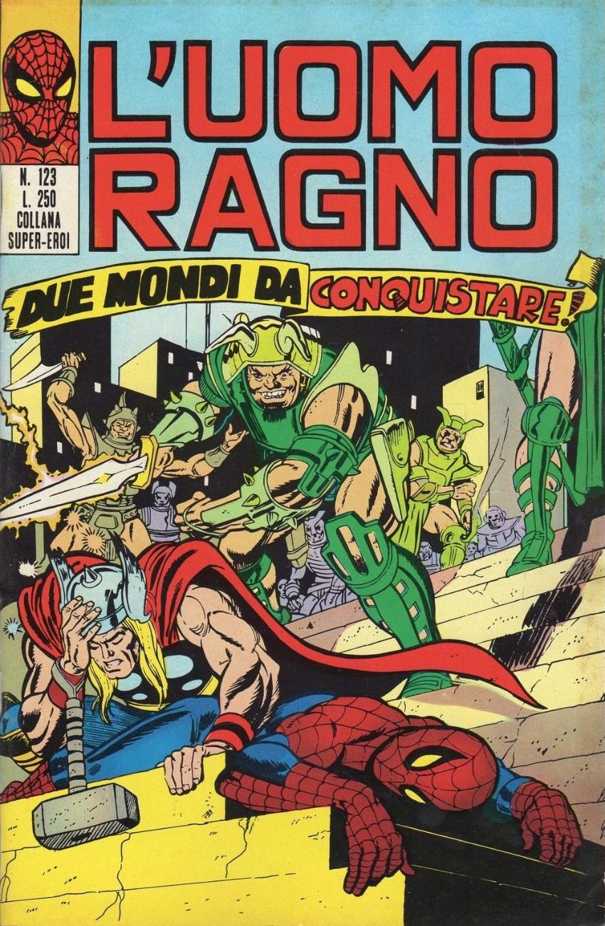 Couverture de L'uomo Ragno V1 (Editoriale Corno - 1970)  -123- Due Mondi da Conquistare!