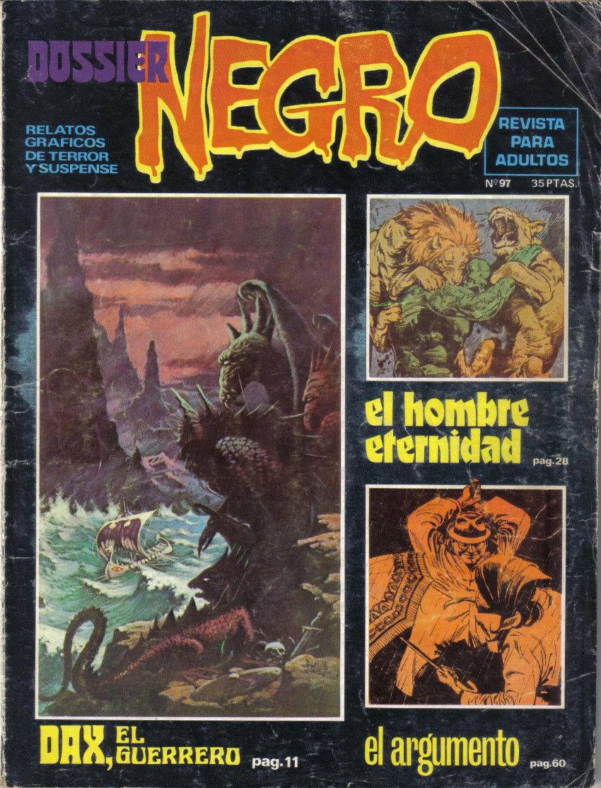 Couverture de Dossier Negro -97- El hombre eternidas