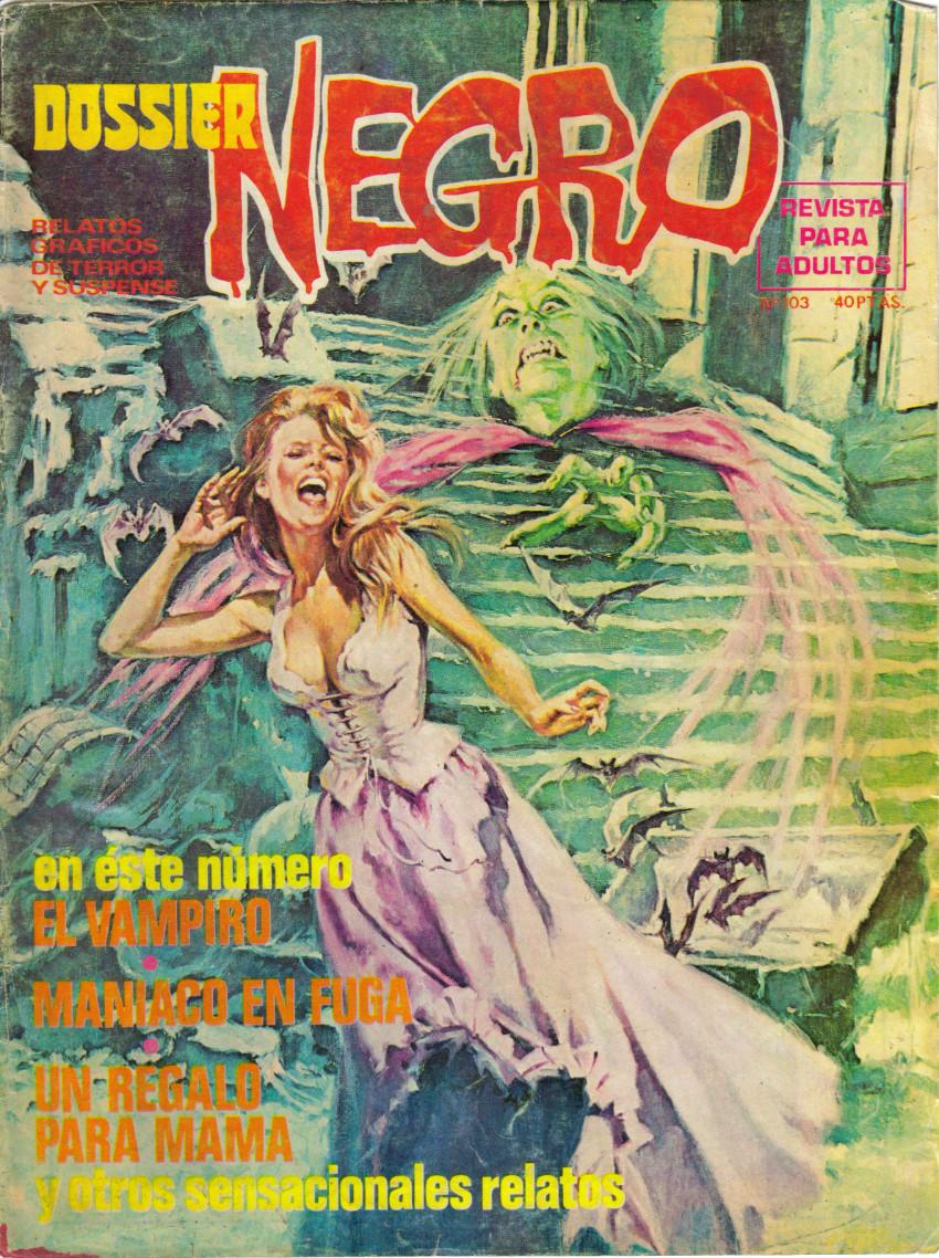 Couverture de Dossier Negro -103- El vampiro
