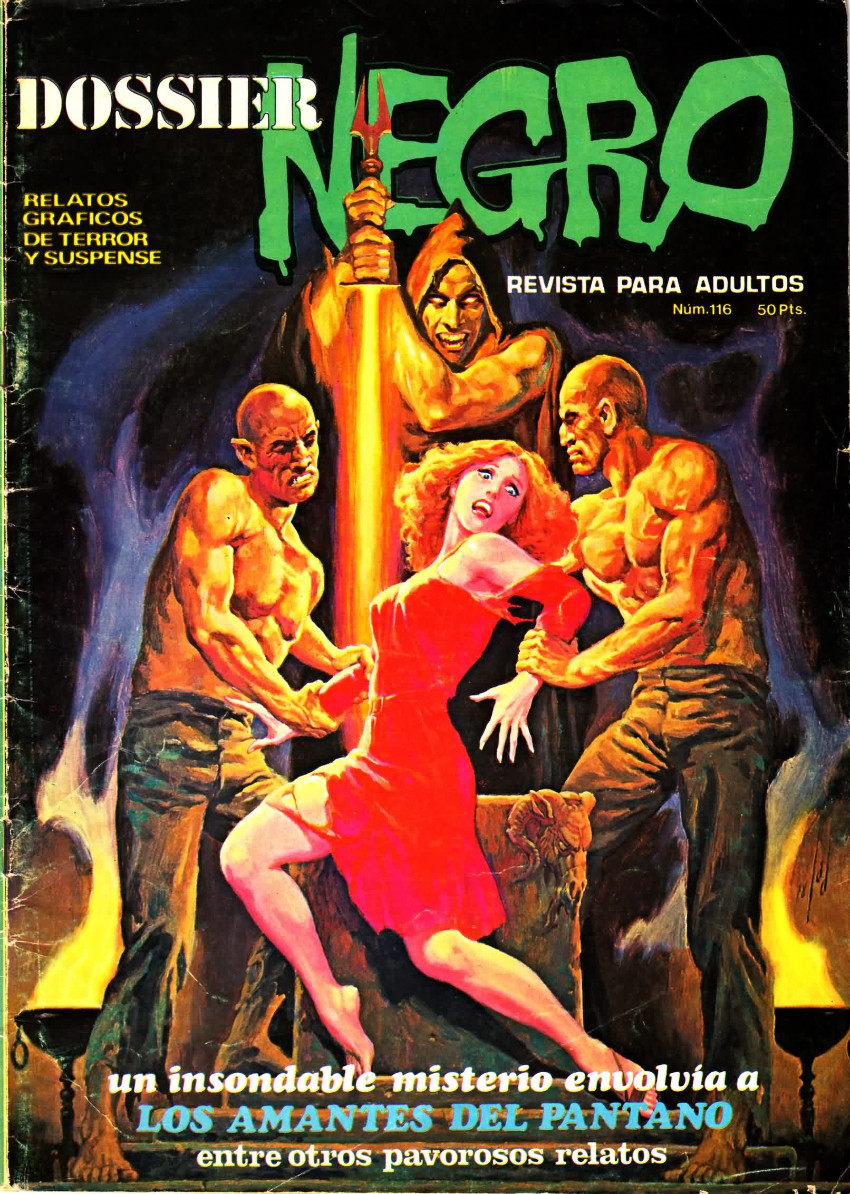 Couverture de Dossier Negro -116- Los amantes del pantano