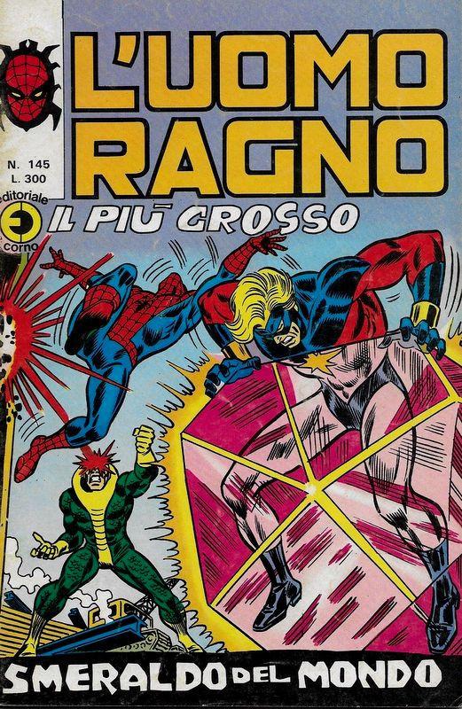 Couverture de L'uomo Ragno V1 (Editoriale Corno - 1970)  -145- Il più grosso Smeraldo del Mondo