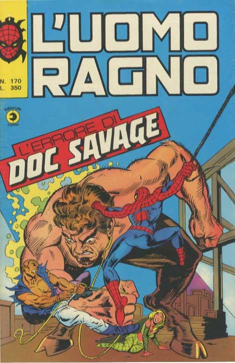 Couverture de L'uomo Ragno V1 (Editoriale Corno - 1970)  -170- L'Errore di Doc Savage