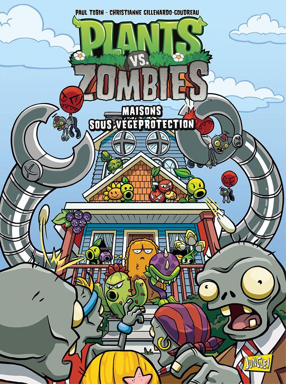Couverture de Plants vs. Zombies -15- Maison sous vegeprotection