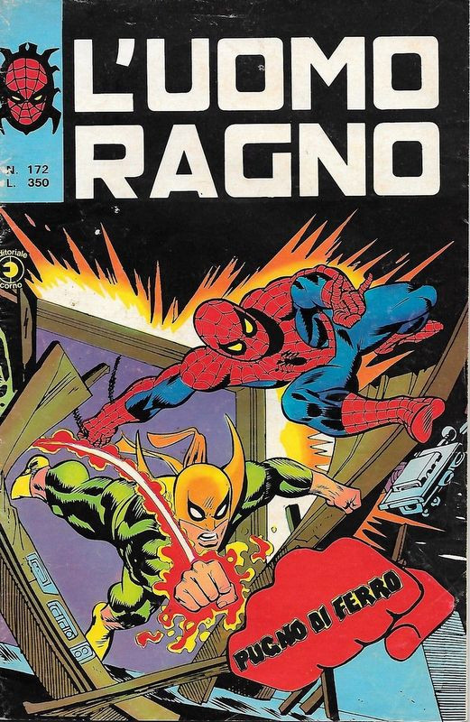 Couverture de L'uomo Ragno V1 (Editoriale Corno - 1970)  -172- Pugno di Ferro