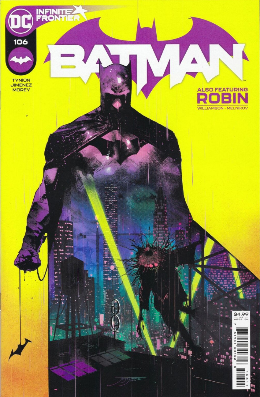Couverture de Batman Vol.3 (DC Comics - 2016) -106- The Cowardly Lot - Part 1