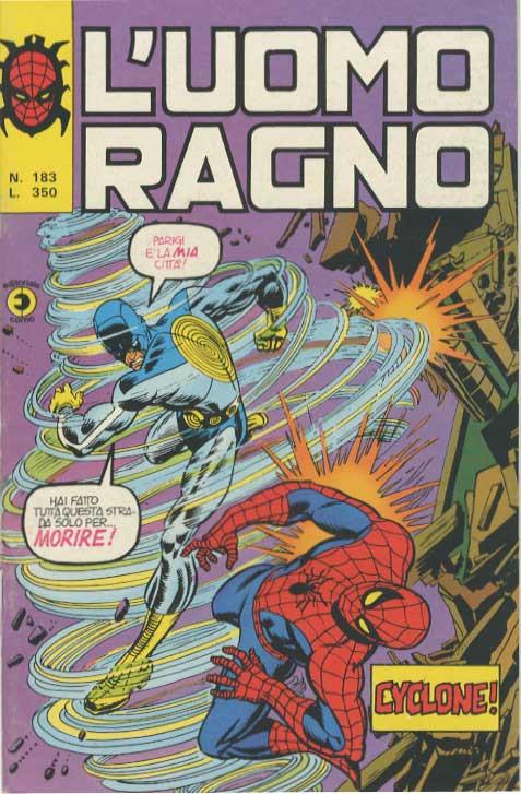 Couverture de L'uomo Ragno V1 (Editoriale Corno - 1970)  -183- Cyclone