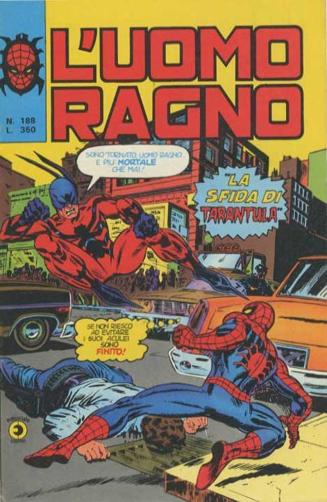 Couverture de L'uomo Ragno V1 (Editoriale Corno - 1970)  -188- La Sfida di Tarantula