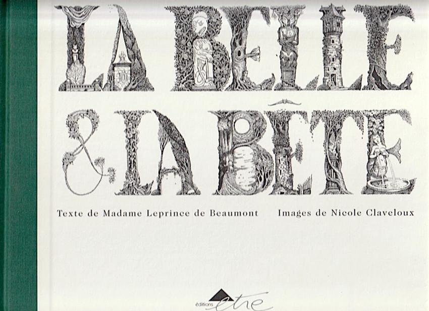 Couverture de (AUT) Claveloux - La Belle et la Bête