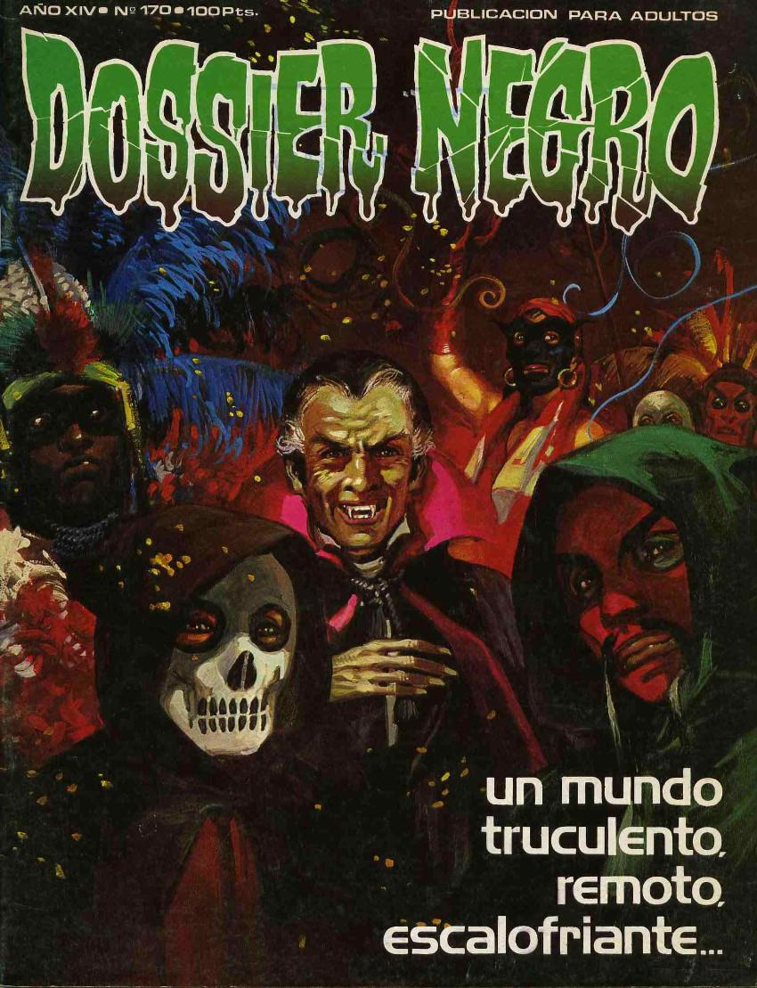 Couverture de Dossier Negro -170- Un mundo truculento, remoto, escalofriante...