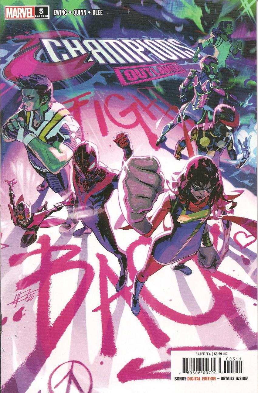 Couverture de Champions Vol.4 (Marvel comics - 2020) -5- Outlawed 5