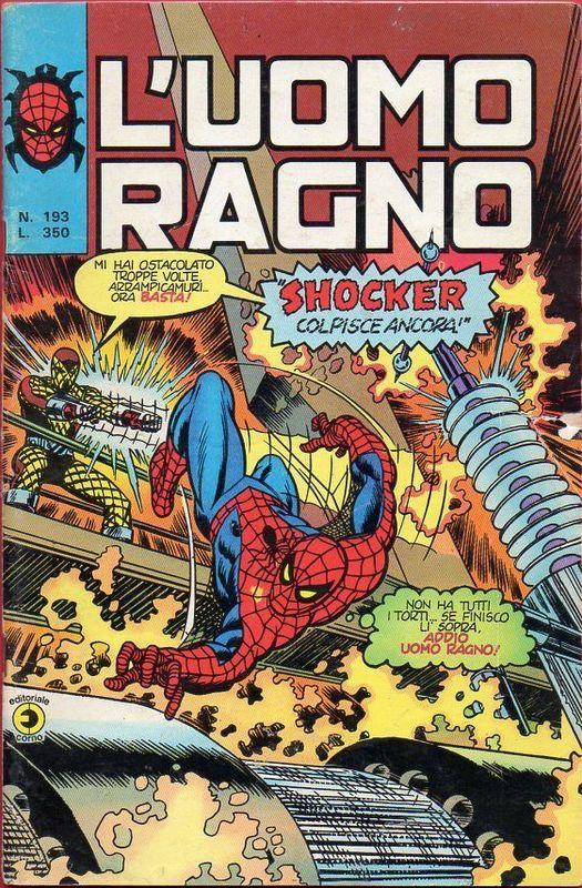 Couverture de L'uomo Ragno V1 (Editoriale Corno - 1970)  -193- Shocker colpisce ancora!