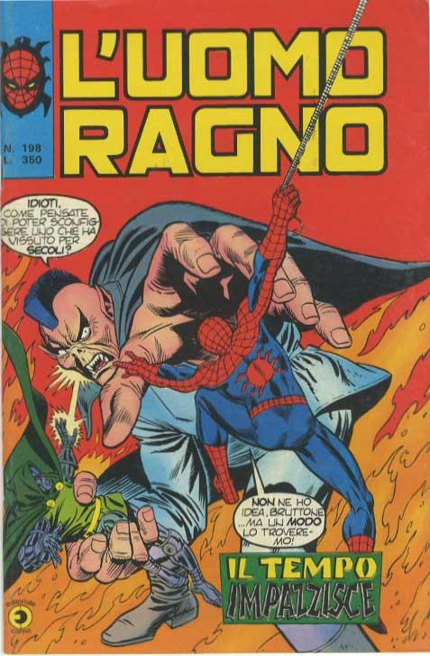 Couverture de L'uomo Ragno V1 (Editoriale Corno - 1970)  -198- Il Tempo Impazzisce