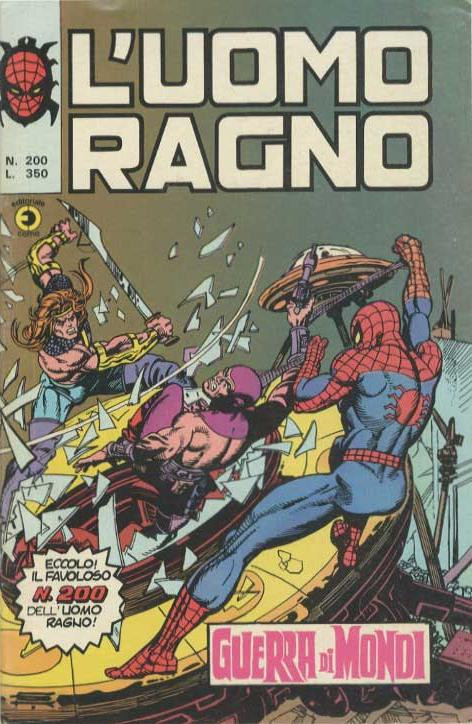 Couverture de L'uomo Ragno V1 (Editoriale Corno - 1970)  -200- Guerra di Mondi