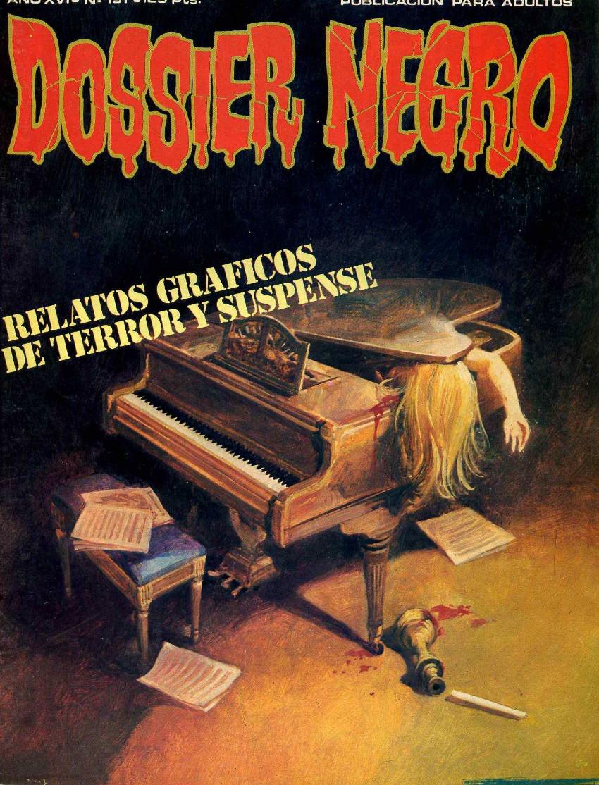 Couverture de Dossier Negro -191- Relatos gráficos de terror y suspense