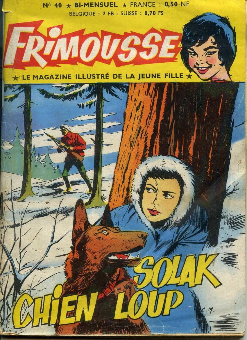 Couverture de Frimousse et Frimousse-Capucine -40- Solak chien loup