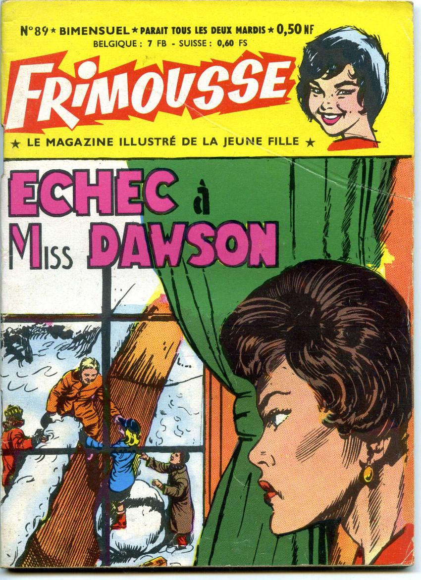 Couverture de Frimousse et Frimousse-Capucine -89- Echec à Miss Dawson